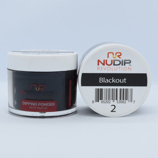 NuRevolution Dipping Powder, 002, Blackout, 2oz OK0502VD