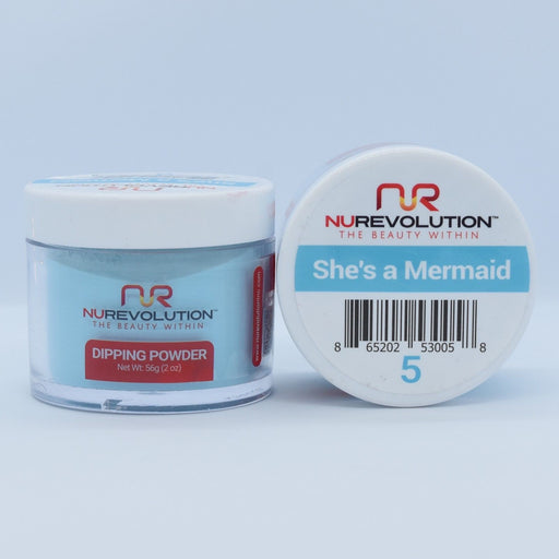 NuRevolution Dipping Powder, 005, She's a Mermaid, 2oz OK0502VD