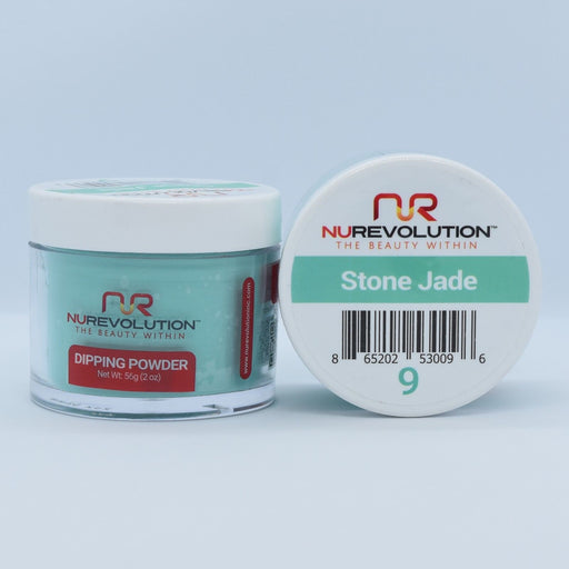 NuRevolution Dipping Powder, 009, Stone Jade, 2oz OK0502VD