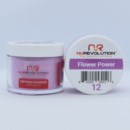 NuRevolution Dipping Powder, 012, Flower Power, 2oz OK0502VD