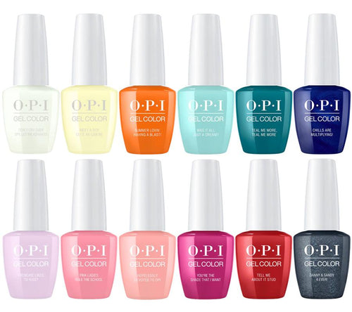 OPI GelColor 2, Grease Collection, Full Line of 12 Colors (from G41 to G52, Price: $12.95/pc)