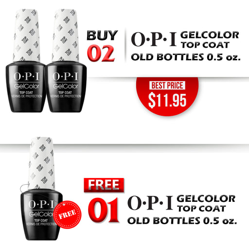 OPI Gelcolor Top Coat, OLD BOTTLE, Buy 2 get 1 FREE