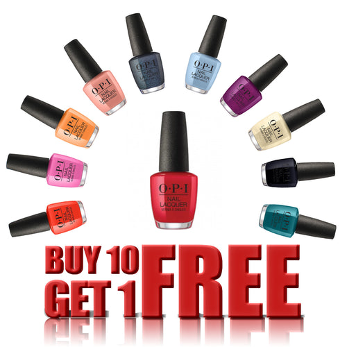 OPI Nail Lacquer, 0.5oz, Buy 10 get 1 FREE