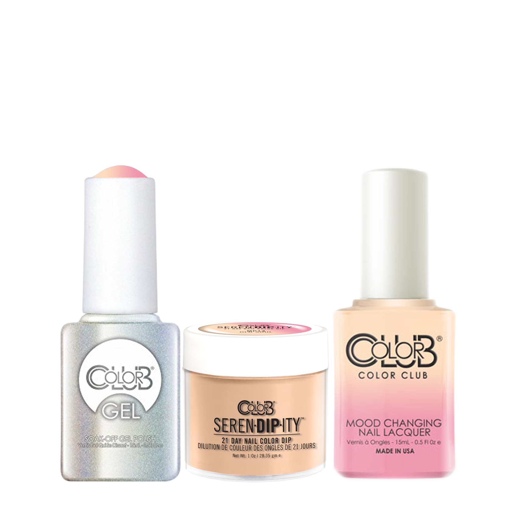 Color Club 3in1 Dipping Powder Gel Polish Nail Lacquer