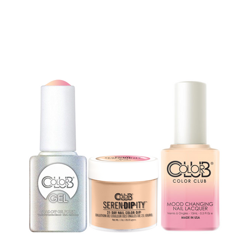 Color Club 3in1 Dipping Powder + Gel Polish + Nail Lacquer , Serendipity, Old Soul (Mood-Color Changing), 1oz, 05XDIPMP14-1 KK