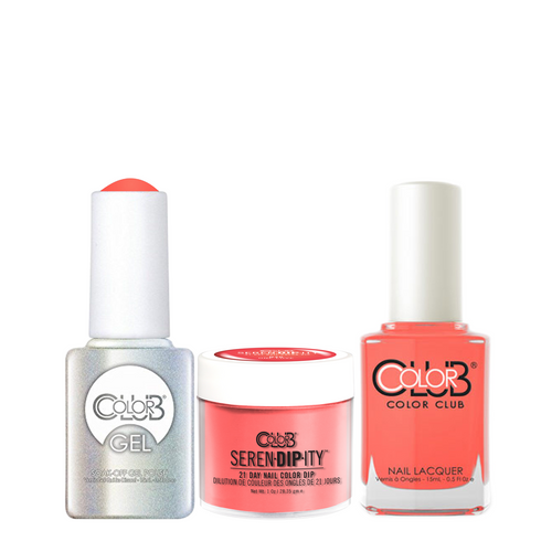 Color Club 3in1 Dipping Powder + Gel Polish + Nail Lacquer , Serendipity, One Love, 1oz, 05XDIPN40-1 KK