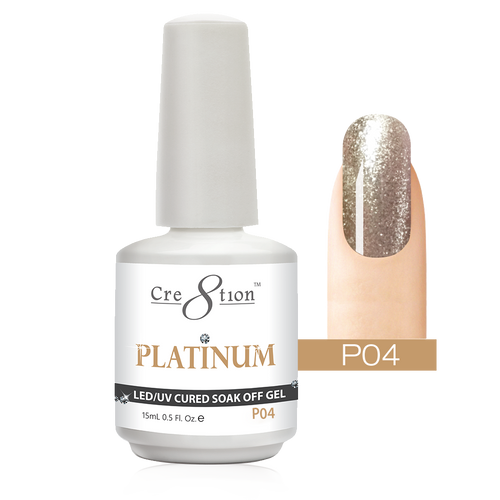 Cre8tion Platinum Gel Polish, P04, 0916-0489, 0.5oz KK0912
