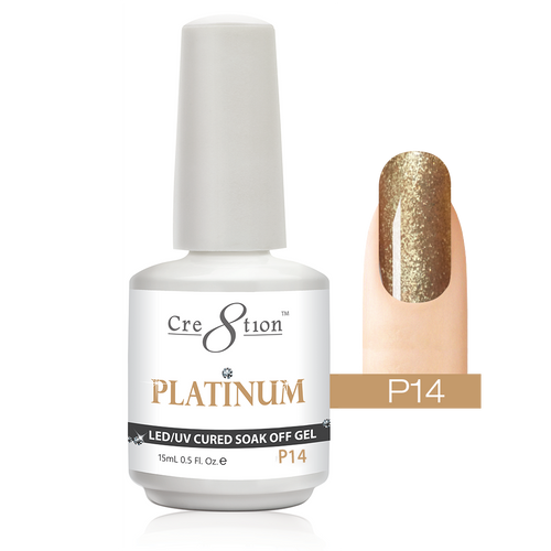 Cre8tion Platinum Gel Polish, P14, 0916-0536, 0.5oz KK0912