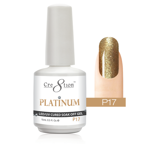Cre8tion Platinum Gel Polish, P17, 0916-0539, 0.5oz KK0912