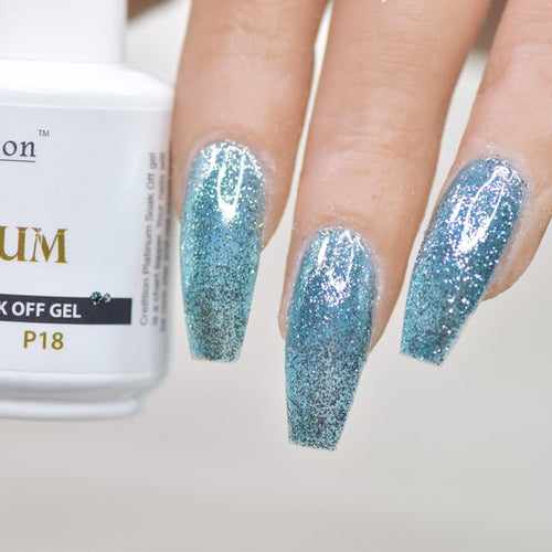 Cre8tion Platinum Gel Polish, P18, 0916-0540, 0.5oz KK0912