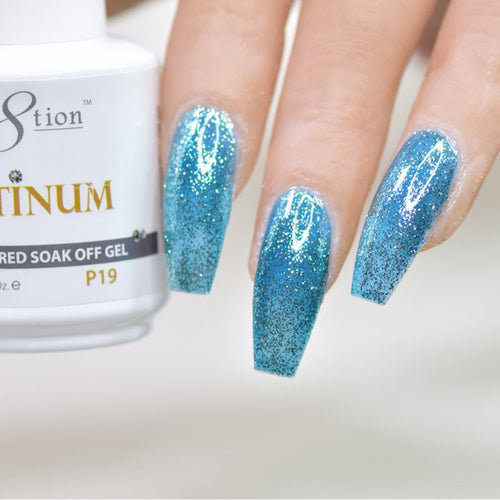 Cre8tion Platinum Gel Polish, P19, 0916-0541, 0.5oz KK0912