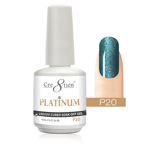 Cre8tion Platinum Gel Polish, P20, 0916-0542, 0.5oz KK0912