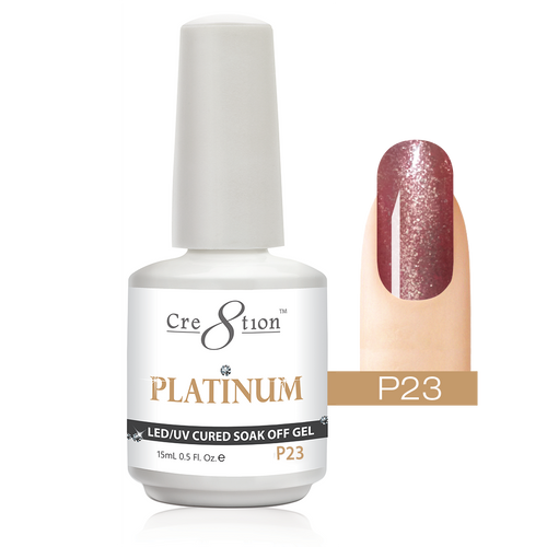 Cre8tion Platinum Gel Polish, P23, 0916-0545, 0.5oz KK0912