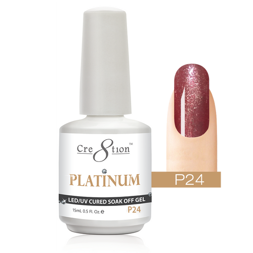 Cre8tion Platinum Gel Polish, P24, 0916-0546, 0.5oz KK0912