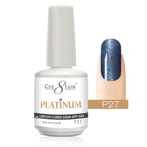 Cre8tion Platinum Gel Polish, P27, 0916-0549, 0.5oz KK0912