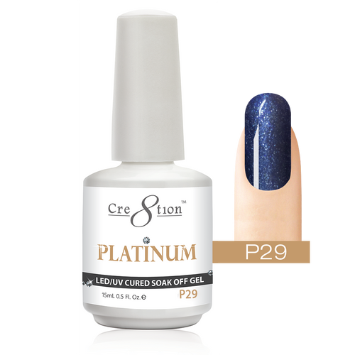 Cre8tion Platinum Gel Polish, P29, 0916-0551, 0.5oz KK0912