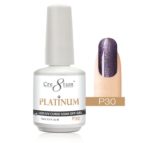 Cre8tion Platinum Gel Polish, P30, 0916-0552, 0.5oz KK0912