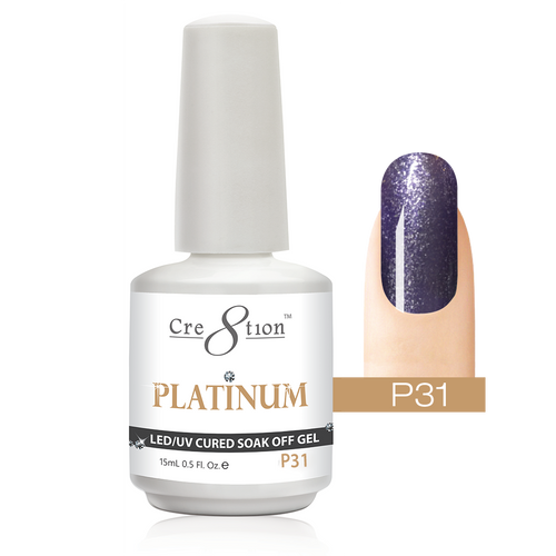 Cre8tion Platinum Gel Polish, P31, 0916-0553, 0.5oz KK0912