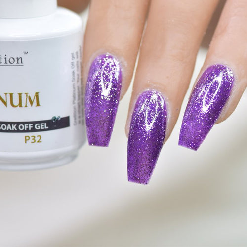 Cre8tion Platinum Gel Polish, P32, 0916-0554, 0.5oz KK0912