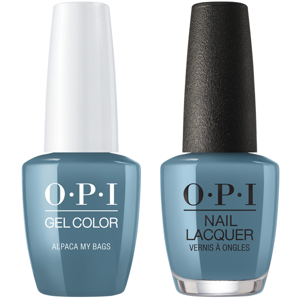OPI GelColor And Nail Lacquer 4, Peru Collection, P33, Alpaca My Bags, 0 5oz