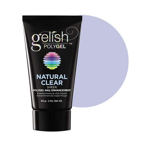 Gelish PolyGel, 1712001, Natural Clear, 2oz  BB KK