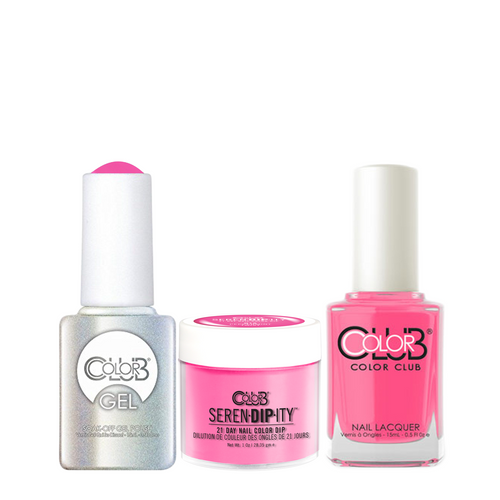Color Club 3in1 Dipping Powder + Gel Polish + Nail Lacquer , Serendipity, Peppermint Twist, 1oz, 05XDIPN18-1 KK