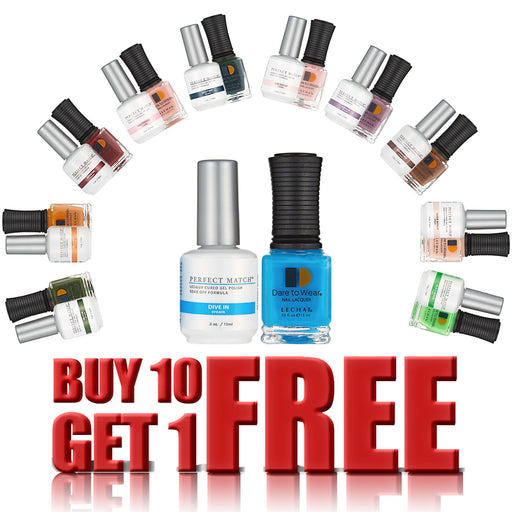 LeChat Perfect Match Gel, 0.5oz, Buy 10 Get 1 FREE