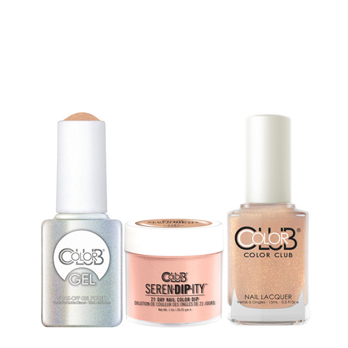 Color Club 3in1 Dipping Powder + Gel Polish + Nail Lacquer , Serendipity, Piece of Cake, 1oz, 05XDIP1107-1 KK