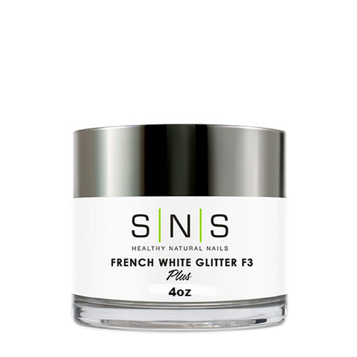SNS Dipping Powder, 03, FRENCH WHITE GLITTER F3, 4oz KK1107