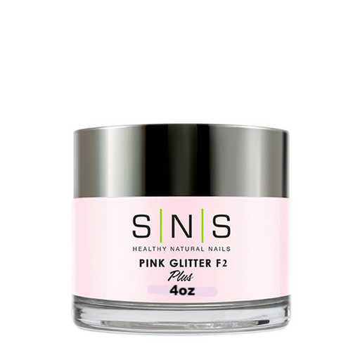 SNS Dipping Powder, 12, PINK GLITTER F2, 4oz (Packing: 40 pcs/case)