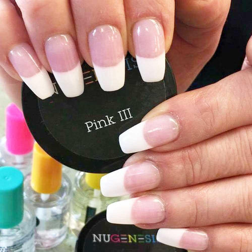 Nugenesis Dipping Powder, Pink & Whites, Pink III, 2oz KK
