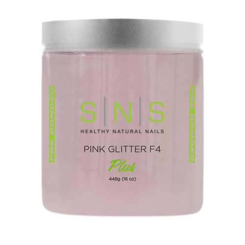 SNS Dipping Powder, 10, NATURAL PINK GLITTER F4, 16oz KK1107