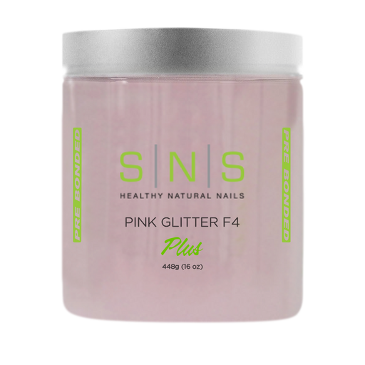 SNS Dipping Powder, 10, NATURAL PINK GLITTER F4, 16oz, 18pcs/case OK0118VD