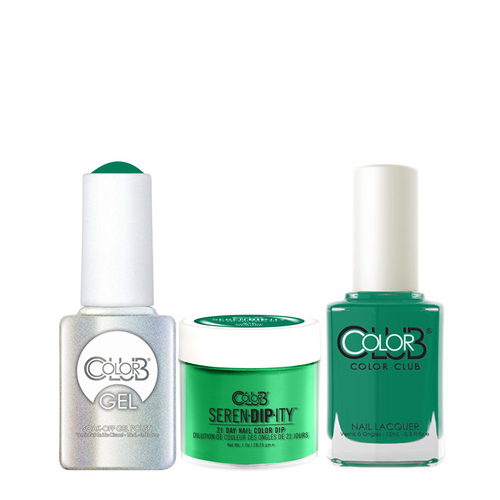 Color Club 3in1 Dipping Powder + Gel Polish + Nail Lacquer , Serendipity, Pon the Reggae, 1oz, 05XDIPN46-1 KK
