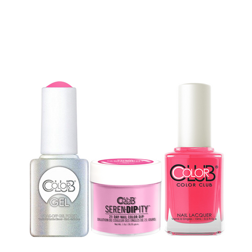 Color Club 3in1 Dipping Powder + Gel Polish + Nail Lacquer , Serendipity, Poptastic, 1oz, 05XDIPN01-1 KK