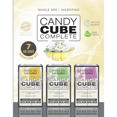 Whale Spa, Candy Cube Complete, Mango, 1pc