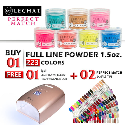 Lechat Perfect Match Dipping Powder, Full Line Of 223 Colors, 1.5oz