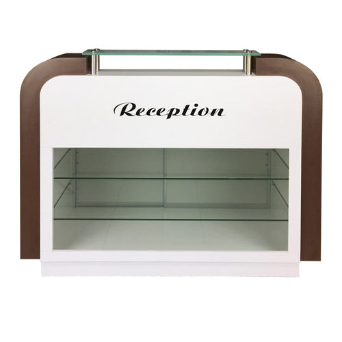 SPA Reception Desk, White/Chocolate, C-39 (NOT Included Shipping Charge)