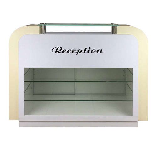 SPA Reception Desk, White/Beige, C-39 (NOT Included Shipping Charge)