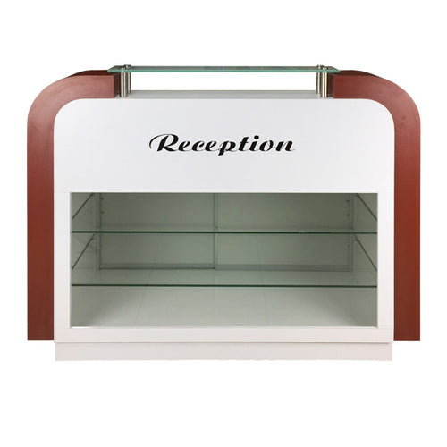 SPA Reception Desk, White/Burgundy, C-39 (NOT Included Shipping Charge)