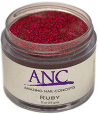 ANC Dipping Powder, 2OP043, Ruby Glitter, 2oz, 805123 KK