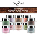 Cre8tion ACRYLIC/DIPPING POWDER, Rustic Collection, 1.7oz, Full line of 45 colors (from RC01 to RC45) KK1022