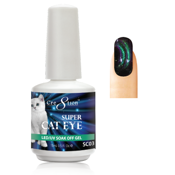 Cre8tion Super Cat Eye Gel Polish, 0916-1010, 0.5oz, SC03 KK1129
