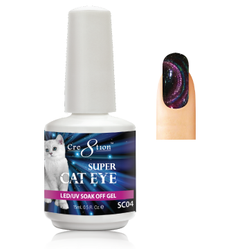 Cre8tion Super Cat Eye Gel Polish, 0916-1011, 0.5oz, SC04 KK1129