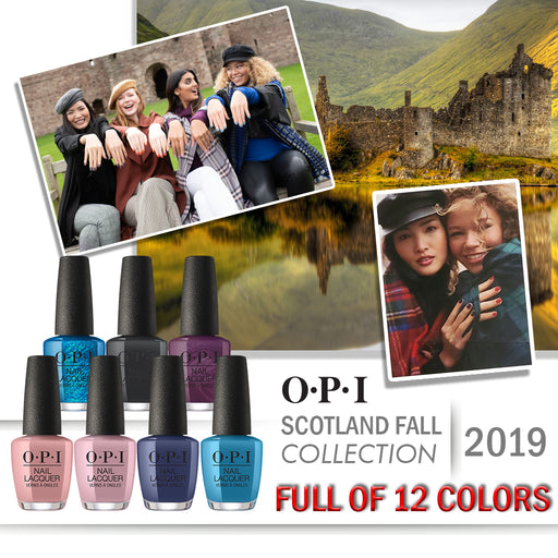 OPI Nail Lacquer, Scotland Fall 2019 Collection, Full Line Of 12 Colors (From NL U12 To NL U23), 0.5oz OK0613VD