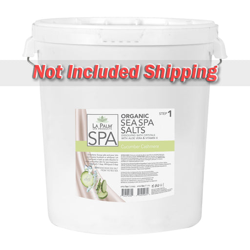 La Palm, Organic Sea Spa Salts, Cucumber Cashmere, 5Gal KK