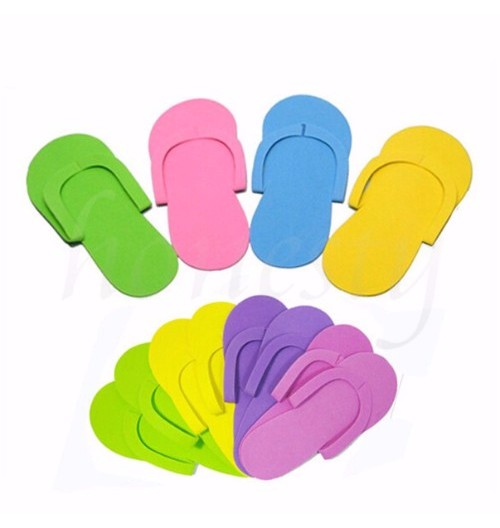 Cre8tion Non-Slippery Disposable Sewing Pedicure Slippers - Caro Bottom (CASE), 2.5mm, 12 pairs/bag, 360 pair/case, 10134