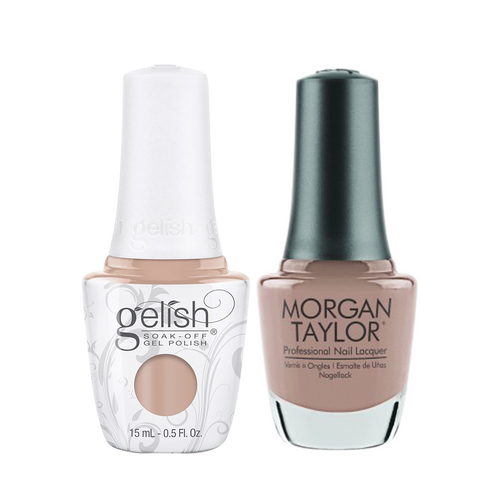 Gelish Gel Polish & Morgan Taylor Nail Lacquer 1, 1110337 + 3110337, Forever Fabulous Winter Collection 2018, She's A Natural, 0.5oz KK1011