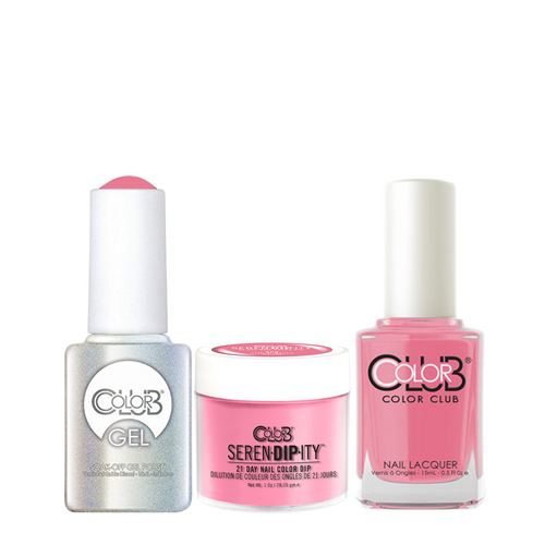 Color Club 3in1 Dipping Powder + Gel Polish + Nail Lacquer , Serendipity, She's Sooo Glam, 1oz, 05XDIP885-1 KK