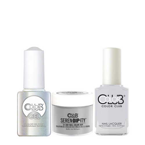 Color Club 3in1 Dipping Powder + Gel Polish + Nail Lacquer , Serendipity, Silverlake, 1oz, 05XDIP1000-1 KK